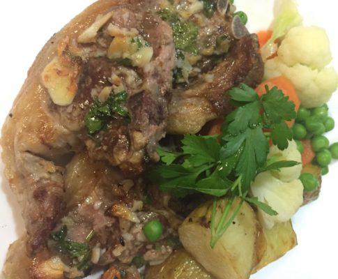 Garlic Lamb Loin Chops