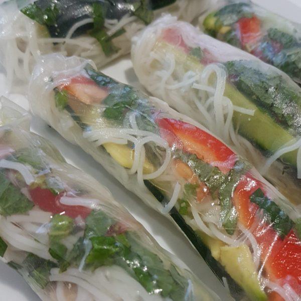 Chicken Satay Rice Paper Roll Recipe North Brisbane Butcher